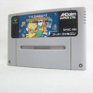 Super Famicom THE SIMPSONS BARTS NIGHTMARE Nintendo Cartridge sfc