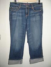 Celebrity Pink Size 29 (31x24.5) Distressed Cuffed Capri Jeans Stretch 72-8516