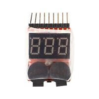 1S-8S Probador de Bateria Lipo de Baja Tension Prueba Voltimetro de monitor Z9M9