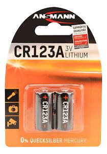 ANSMANN Lithium-Batterie CR123A / CR17335 / 3 V - lange Haltbarkeit