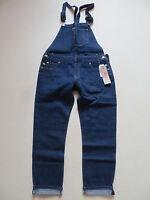 Levi's Salopette Pettorina Jeans Pantaloni Tgl M,W 34 Scuro Indigo Denim,Overall