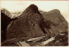 Pass of Glencoe, Highlands, Scotland. Original C.1880s albumen photograph