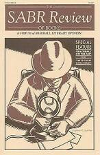 NEW The SABR Review of Books: A Forum of Baseball Literary Opinion, Volume II