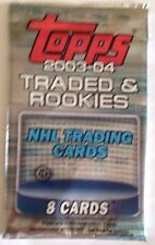 2003-04 Topps Traded & Rookies Hockey HOBBY Pack Fabrics/Rookie/Gold/Red Cards?