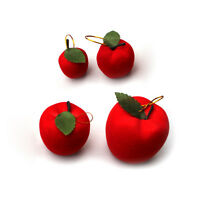 6 Pcs Classic Xmas Tree Hangings Red Apple Ornaments Christmas Party Decor CI