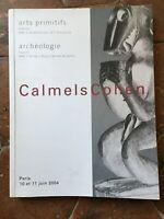 Catálogo Calmels Cohen Venta Subasta Art las Cavernas Arqueología Junio 2004 Ill