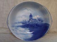 Antique Rosenthal Blue Church Scene Porcelain Bowl Bavaria Germany