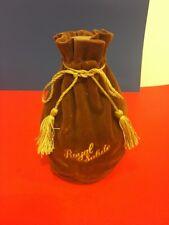 Vintage Brown Royal Salute Chivas Scotch Bottle 1801 Ceramic With Velvet Pouch