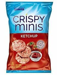 6x Quaker Crispy Minis Ketchup 100g/3.52oz EACH Canada ALWAYS FRESH!