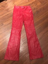 Girls Faux Leather Pants Red LOB X1