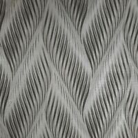 Vinyl Zig zag wave black gray silver metallic faux fabric textured Wallpaper 3D