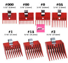 SPEED O GUIDE Clipper Guard Red Universal Comb Attachment Retail Package
