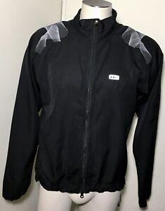 Louis Garneau Mens Sz M Black Lightweight Zip Up Cycling Cyclist Jacket