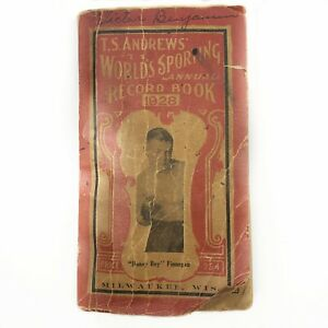 1928 TS Andrews Annual Record Book Jack Dempsey/Benny Leonard/Charles Lindbergh