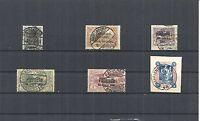 Abstimmungsgebiete 1920, verschiedene Einzelmarken o, gestempelt o