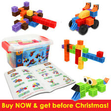 133pcs DIY 3D Educational Learning Blocks Building Kid Toy Construction STEM UK