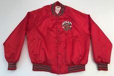 Vtg Chicago Bulls 1991 NBA World Champions Jacket Satin Nylon Locker Line XL EUC