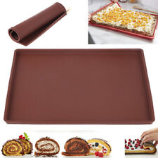 Silicone Swiss Cake Roll Oven for Sushi Baking Mat Pizza Pan Tray Mats Rectangle