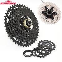 SunRace 10 Speed 11-40/42/46T MTB Bike Cassette Flywheel Shimano SRAM Adapter