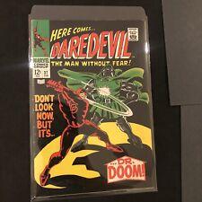 Daredevil #37 Classic battle Daredevil v Dr. Doom Stan Lee VF- (2/68) NO RESERVE