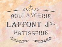 Schablone für  Möbeldeko - Boulangerie - französische vintage Schrift - stencil