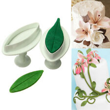 Veined Lily Flower Plastic 3D Cake Fondant Cookie Decorating Mold Cutter Plunger