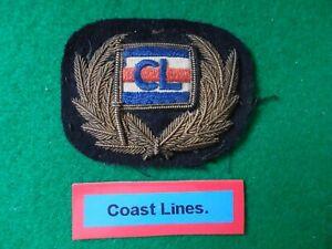 """Merchant Navy cap badge """"COAST LINES Ltd."""" 1913-1974"""