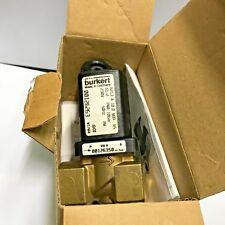 """Burkert 126263 6213A 10.0 NBR Solenoid Valve 2-way Brass 1/2"""" 230V AC 0 -10 bar"""