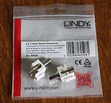 Lindy 3.5mm Stereo Keystone, paquete de 2 - *** NUEVO ***
