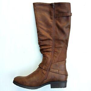 BareTraps Yanessa Women's Size 11M Brush Brown Knee High Almond Toe Boots
