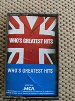 "The Who Greatest Hits ""Who's Greatest Hits"" Cassette Tape 1983"