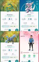 Legendary Rayquaza Kyurem Palkia 🔥 Pokémon Go Account Pokemon PTC 🔥 111r