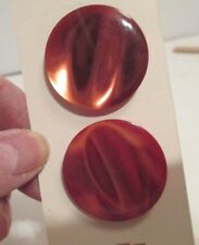 4 Big and Beautiful Bronze-colored Plastic Buttons