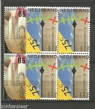 NVPH 1440-41 POSTFRIS IN BLOKKEN VAN 4 1990 CAT.WRD 6,00 EURO