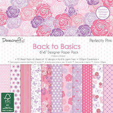 SAMPLE PACKS-Dovecraft Back to Basics Perfectly Pink 12 x 6 x 6 Paper Pack