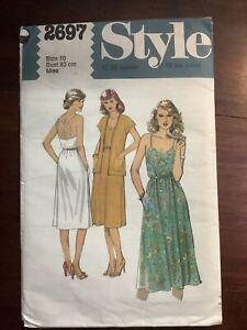 Vintage Misses Dress & Jacket Pattern 2697 Size 10
