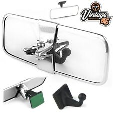 Classic Car Rectangular Stainless Steel Rear View Interior Mirror Self Adhesive