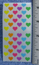 Sandylion HEARTS, MINI - Strip of Multi Colored VINTAGE Discontinued Stickers