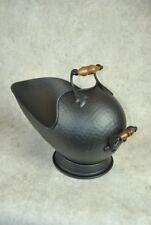 Large Black Metal Coal Fire Scuttle Skuttle Bucket
