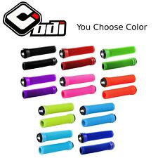 ODI Soft Flangeless Longneck Grips BMX MTB Hybrid Bike Scooter Softies No Flange