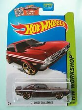 """Hot Wheels 2015 WORKSHOP """" '71 DODGE CHALLENGER"""" Collector #227/250 (Maroon)"""