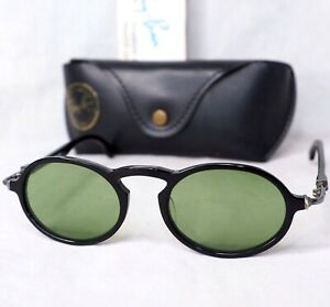 Ray Ban B&L W1525 sunglasses Gatsby DLX style 1 USA black green vintage oval