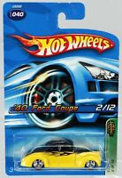 Hot Wheels '40 Ford Coupe 2006 Treasure Hunt Series #J3282 NRFP 2005 Blk/Yel