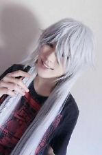Hot! Black Butler Kuroshitsuji Undertaker Cosplay silvery white Wigs 40'' 100cm