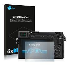 6x Displayschutzfolie Panasonic Lumix DMC-GX80 Schutzfolie Klar Folie