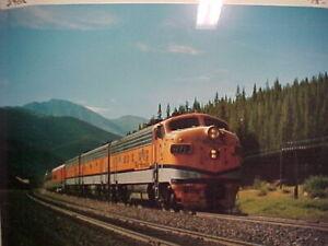 Railroad Art, Photo, Rio Grande Zephyr, C-1979, 16X20 incl border, new