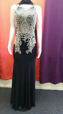 Black Elegant Evening Dress/Gown with accented topline LACE for majestic LOOK