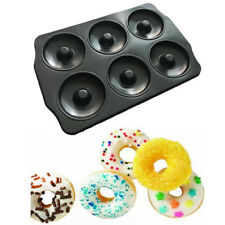 6 Cup Doughnut Pan Donut Tray Bake Baking Mould Mold Dough Nut Maker Cake Party
