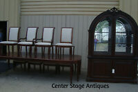 """55382  RIVERS EDGE 10 pc. Dining Set China  Table + 8 chairs 124"""" x 51"""" Table"""