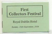 1984 DX48 1ST COLLECTORS DUBLIN FAIR EXHIBITION BOOKLET - SCARCE -